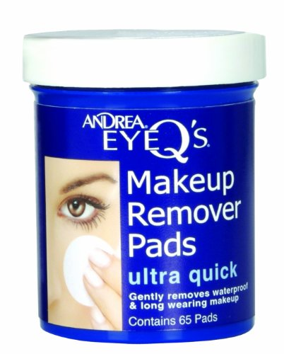 Andrea - Eye Q's Disques démaquillants Peau sèche Bleu Lot de 65