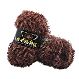 Oyedens Nerz Filament + Feder unten Bunter Mix - 11*7*7cm - Oeko-Tex Standard 100 zertifizierte Wolle zum Stricken & Häkeln - Baumwollgarn Set in 9 Farben (Braun)
