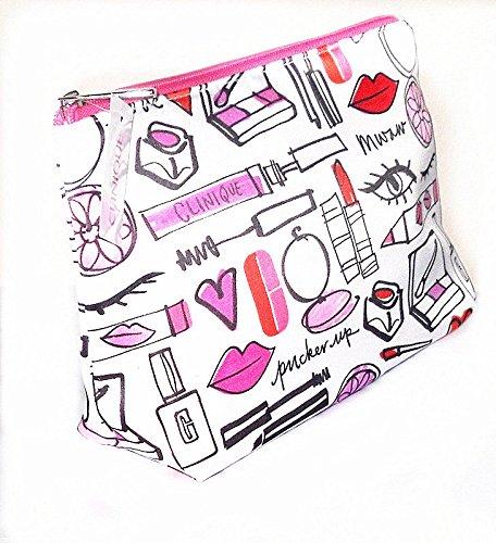 clinique-colore-bianco-rosa-arancione-rosso-make-up-bag