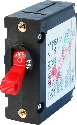 Blue Sea Systeme A-Serie Toggle Single Pole Circuit Breakers, rot, 10 Amp