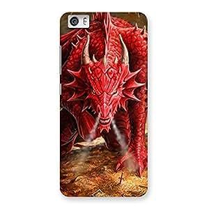 Impressive Red Fantastic Dragon Back Case Cover for Xiaomi Redmi Mi5