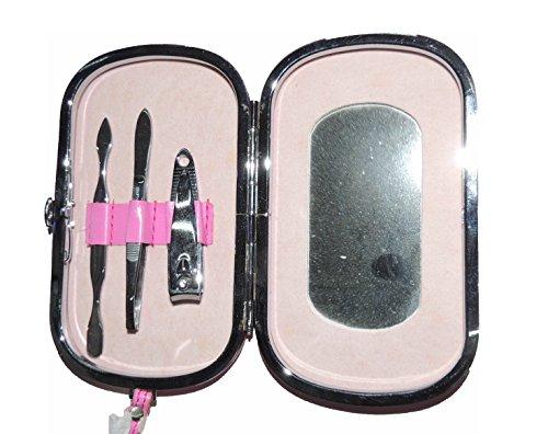 ETUIS ROSE pédicure avec miroir, texte: T'es vraiment la plus belle !