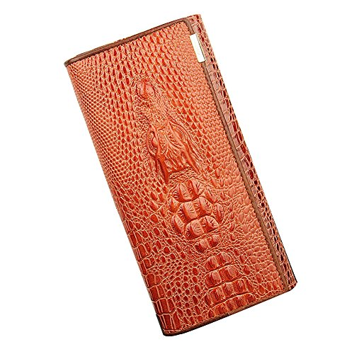 Ulisc 3D Women Wallets Alligators Genuine Leather Money Female Wallet Brand Designers New Long Bag Ladies Clutch Coin Purses & Holders (Alligator Patent)