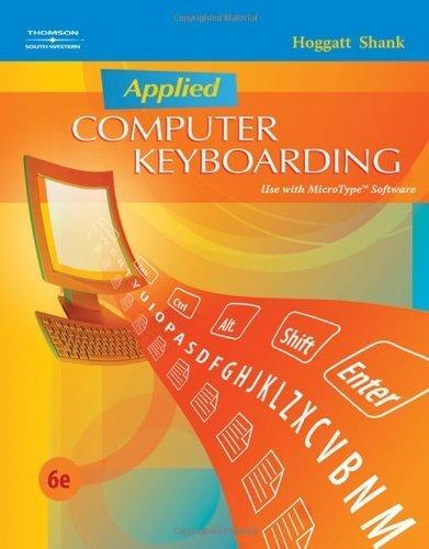 Applied Computer Keyboarding (Keyboarding Production) by Jack P. Hoggatt (2008-02-15)