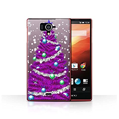 Coque de Stuff4 / Coque pour Sharp Aquos Zeta SH-04F / Violet Design / Sapin/Arbre de Noël Collection