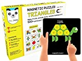 #9: Play Panda New Magnetic Puzzles Triangles - with 250 Colorful Magnets, 100 Puzzle Book, Magnetic Board and Display Stand