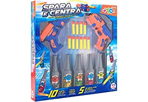 GLOBO, Shooting Bottle Game W/Soft Bullets Juguetes (1)