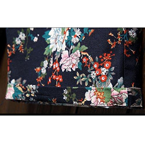Estate Nuova Biancheria Floreale Cuciture Rinfrescanti 9 Colori Confortevole Elegante Di Grassi Di Grandi Dimensioni Pantaloncini Da Spiaggia 05