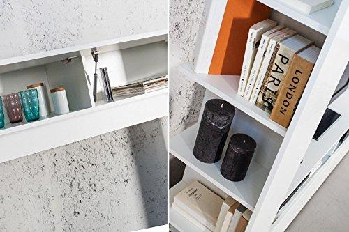 DuNord Design Wohnwand TV-Wand Schrankwand RETROCUBE weiss 185cm Hochglanz Mediawand Anbauwand - 4