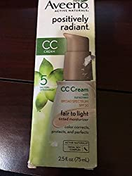 Aveeno Positively Radiant CC Cream Broad Spectrum SPF 30 Fair To Light 2. 5 Oz