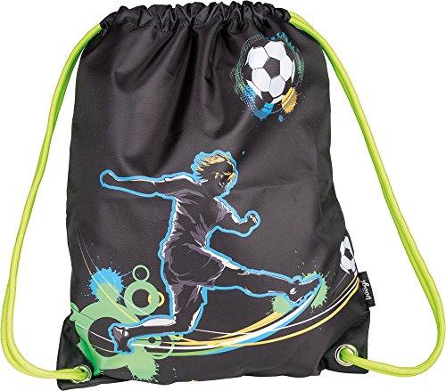 Baagl Turnbeutel für Junge, Wasserdichte Schuhbeutel für Kinder, Schule und Kindergarten Sportbeutel, Sportrucksack (Fußball)