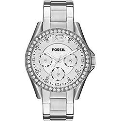 Fossil ES3202 - Reloj (Reloj de pulsera, Femenino, Acero inoxidable, Acero inoxidable, Acero inoxidable, Acero inoxidable)