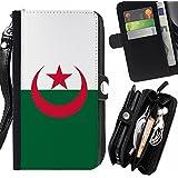 STPlus Argelia Bandera de Argelia Monedero Con Correa y Cremallera Carcasa Funda para LG G4c / LG Magna