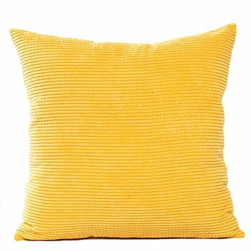 Kavitoz Dekorative Kissenbezug Weiche Plüsch Sofa Bett Stuhl Kissen Fall 45cm*45cm (Gelb) -