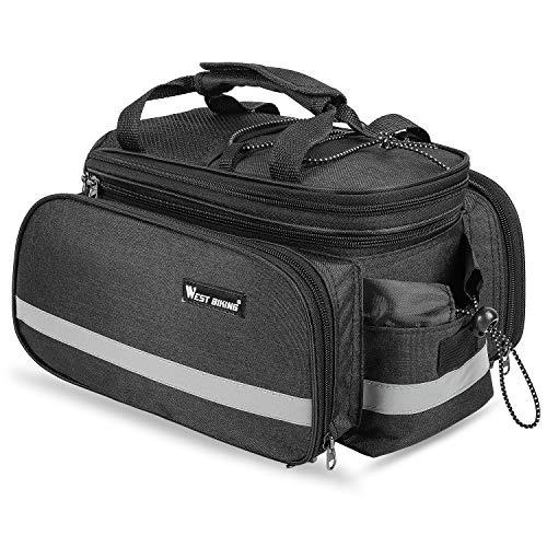 WESTGIRL Radtasche, Gepäckträger Tasche,Satteltasche 10-25L Multifunktion Packtasche Rucksack Handtasche, Haltbares Nylon Mit wasserdicht Regenfeste Abdeckung