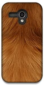 The Racoon Lean Smooth Fur hard plastic printed back case / cover for Moto G (1st Gen)