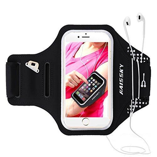 Brazalete deportivo Para Correr Prueba de Sudor Apoyo Gimnasio Deportivo Banda Armband soporte para llaves, cables y tarjetas para iPhone X/XS/XS Max,8 Plus,Galaxy Note 8,Moto y otros hasta 6.2 pulgas