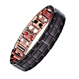 Moneekar Jewels Copper Magnetic Bracelets for Men Arthritis Pain Relief with Double-Row Strong