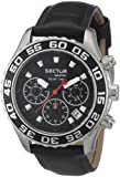 Sector Men's Watch R3271679125 In Collection Pilot Master, Chrono 42mm with Black Dial and Strap