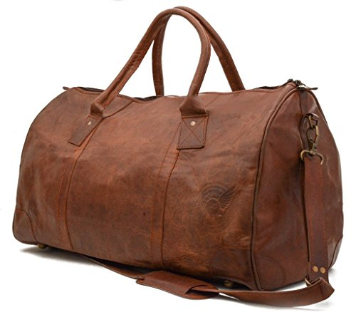 John nyfly Traveler Duffle Bag – 100% cuir