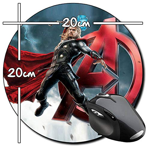 The Avengers 2 Age Of Ultron Thor Mauspad Round Mousepad PC (Avengers Thor 2)