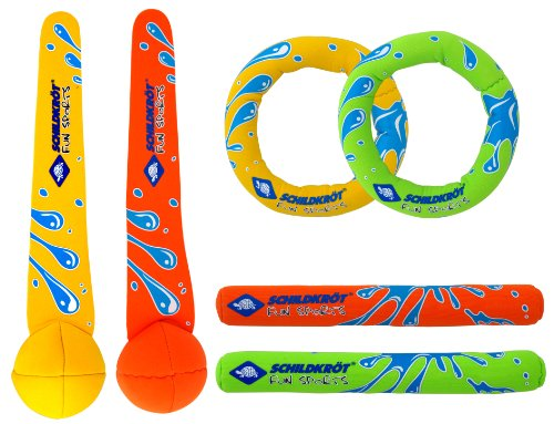 Schildkröt Funsports NEOPREN DIVING SET Tauchset (je 2 Tauchringe, Sticks, Bälle), 970207