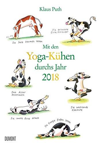 Mit den Yoga-Kühen durchs Jahr 2018 – Lustige Cartoons – Wandkalender - Format 29,5 x 42,0 cm