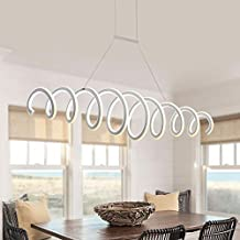 aluminium blanc haute luminosit double glow modern led chandeliers pour salle manger