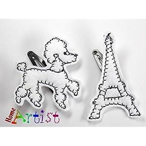 Poodle + Eifel spange für Kleinkinder - freie Farbwahl