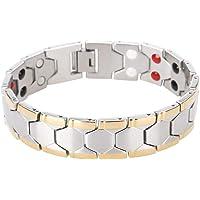 Bracelet magnétique minceur sain, élégant, bracelet de thérapie magnétique pour soulager la douleur avec outil de suppression de maillons