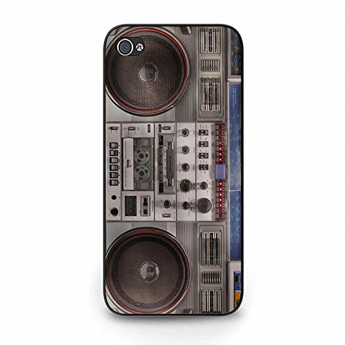 Iphone 5c Boom Box Shell Cover,Vintage Personality Boombox Phone Case Cover for Iphone 5c Boombox Classic Color155d