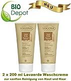 Mihatsch-Diewald 2 x LOGONA Lavaerde Waschcreme Patchouli. Zur sanften Reinigung von Haut und Haaren