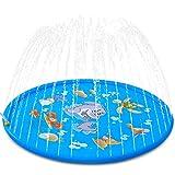 SeeKool Splash Pad,170cm Sommer Garten Sprinkler Wasser-Spielmatte Splash Play Matte für Baby,...