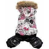 Gato de Mascota Perro Ropa Lillte oso mono con capucha Trench Coat Forro Polar pequeño perro abrigo XS S M L XL