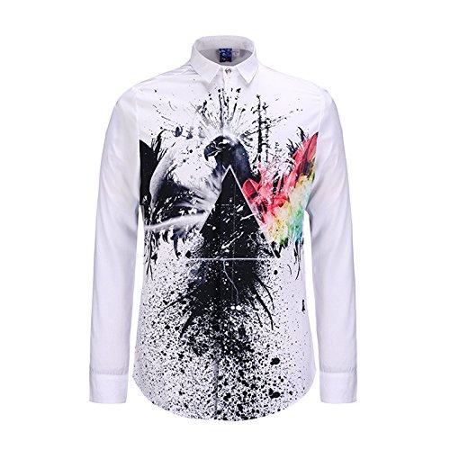 MAYUAN520 Chemises Chemise homme Mode Nouvelle Méduse shirt Impression 3D Boy Top Tee Shirt DC Comics Loisirs camisa masculine chemise homm Shirts,Black,XL