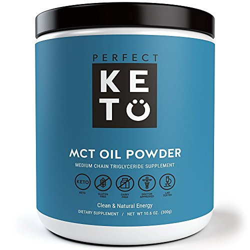 Perfect Keto Mct Oil Powder – Medium Chain Triglyceride (Mct) Oil Powder For Ketosis And Energy – Easier To Absorb And Digest