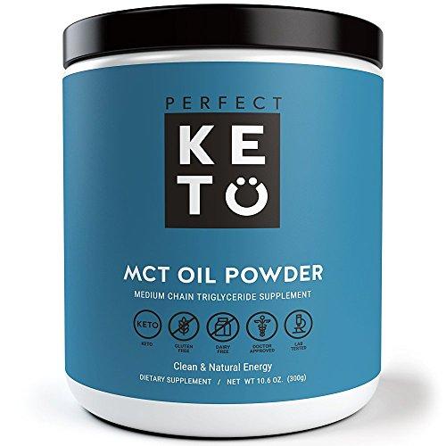 Digest-shakes (Perfect Keto MCT Oil Powder - Ölpulver - Mittelkettige Triglyceride von Kokosnüssen für Ketose und Ketone Energie Supplement auf Ketogenic Diät - Einfach zu Absorb & Digest in Smoothies & Shakes oder Keto Coffee Creamer)