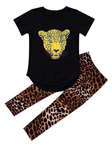 Yiwa Kinder Hosen Shirt Sets Leopard Kopf Print T Shirt gebraucht kaufen  Wird an jeden Ort in Deutschland