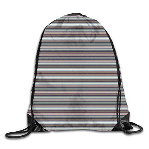YOWAKi Printed Drawstring Backpacks Bags,African Ethnic Horizontal Borders with Diamonds and Chevrons Traditional Native,Adjustable String Closure