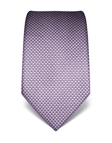 Vincenzo Boretti Herren Krawatte reine Seide Hahnentritt Muster edel Männer-Design gebunden zum Hemd mit Anzug für Business Hochzeit 8 cm schmal/breit lila