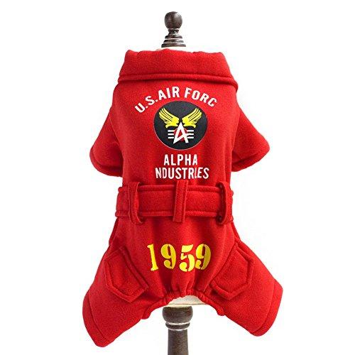 Hsl Fashion Capuche/Costume/Veste/Manteau/Vetement/Pull Hiver Automne Us Air Force 1959 Pour Petit Chien, Rouge, Xxl