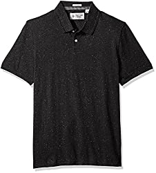 Original Penguin Mens NEP Speck Polo Shirt, True Black, Small