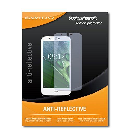 SWIDO Bildschirmschutz für Acer Liquid Zest Plus [4 Stück] Anti-Reflex MATT Entspiegelnd, Hoher Härtegrad, Schutz vor Kratzer/Glasfolie, Schutzfolie, Bildschirmschutzfolie, Panzerglas Folie