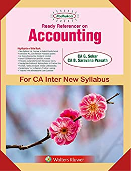 PADHUKA'S READY REFERENCER ON ACCOUNTING (NEW SYL) by [Sekar, G]