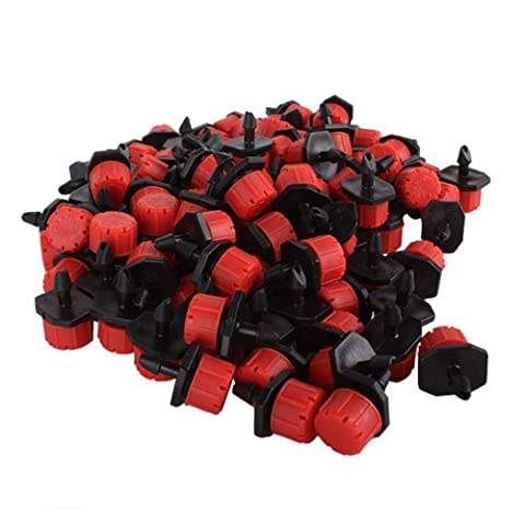 Adjustable Micro Drip Irrigation Watering Emitter Drippers 1-70L/h Pack Of 100