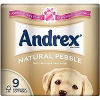 Andrex Natural Pebble Rolls toilettes Tissue - 240 feuilles par rouleau (9) -