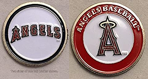 Angels d'Anaheim Double face Marqueur de balle de golf
