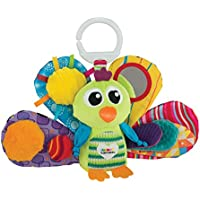 Lamaze Jacques the Peacock - Clip On Pram and Pushchair Plush Baby Toy - ukpricecomparsion.eu
