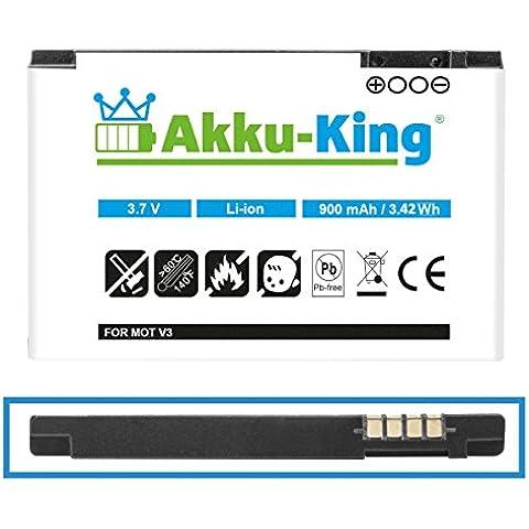 Akku-King batería para Motorola RAZR V3, RAZR V3i, Pebl U6, Flip P - como BA700, BR50 Li-Ion