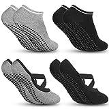 Zacro Yoga Socken und Sportsocken Pilates Socken Tanzsocken Fußboden Socken mit antibakteriell und schweißabsorbierend geeignet für Frauen